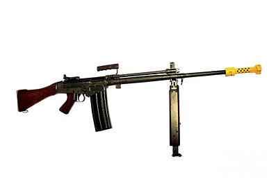 Fn Fal 7.62mm L2a1 Automatic Rifle Art Print by Andrew Chittock
