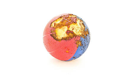 Football Royalty-Free and Rights-Managed Images - Foam ball by Tom Gowanlock