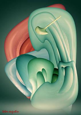 Poetry Of Real Life Digital Art - Foetus by Augustin  Tatar