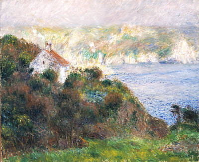 Fog Painting - Fog On Guernsey by Pierre Auguste Renoir