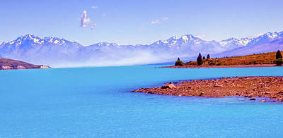 Photograph - Fog On New Zealand Lake Tekapo by Harry Strharsky