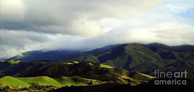 Photograph - Fog Over Santa Ynez Valley by Gary Brandes