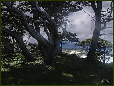 Photograph - Fog Rolls In On Point Lobos by Wayne King