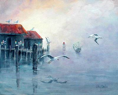 Painting - Foggy Cove by Gary Partin