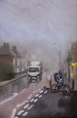 Foggy Herne Bay 2 Art Print by Paul Mitchell