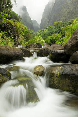 Photograph - Foggy Iao River Valley by Jenna Szerlag