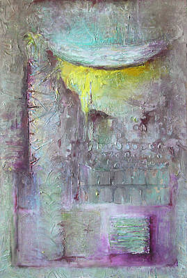 Art Print featuring the painting Foggy Land by Lolita Bronzini