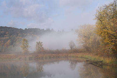Foggy Morning  Art Print by Doris Potter