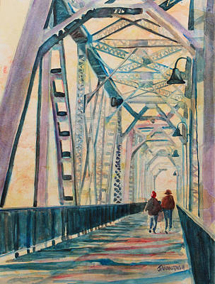 Railroad Park Painting - Foggy Morning On The Railway Bridge IIi by Jenny Armitage