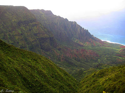 Photograph - Foggy Na Pali 2 by C Sitton