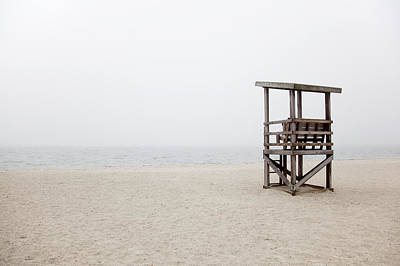 Foggy New England Beach Art Print