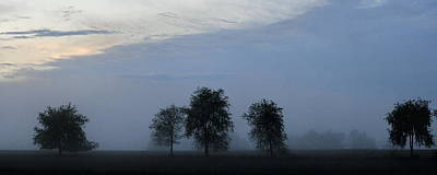Photograph - Foggy Pennsylvania Treeline by Angela Rath