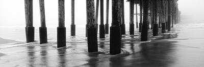 Digital Image Photograph - Foggy Pier by Steve Munch