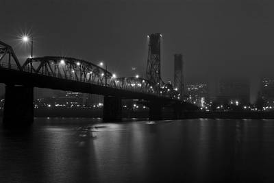 Photograph - Foggy Portland Night by Wes and Dotty Weber