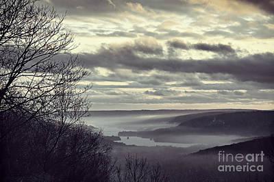 Foggy Reservoir Art Print by HD Connelly
