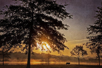 Photograph - Foggy Sunrise by Cheryl Davis