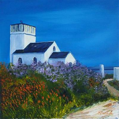 Loch Painting - Foghorn Building At Toward Point by Margaret Denholm