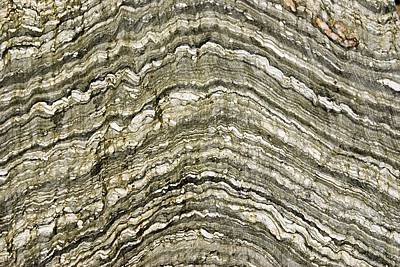 Folded Rock Strata. Art Print