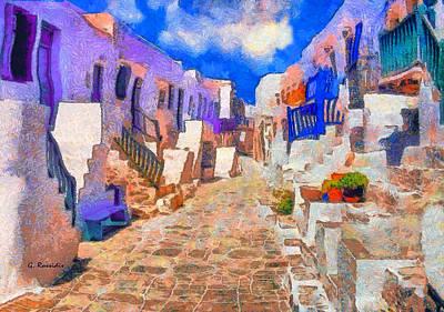 Folegandros Art Print by George Rossidis