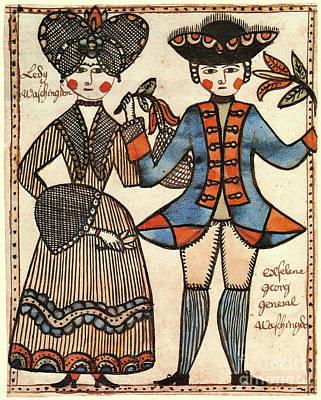 Folk Art: Washingtons Art Print by Granger