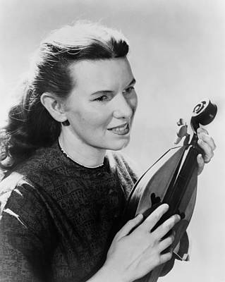 Ritchie Photograph - Folk Singer, Jean Ritchie, Holding An by Everett