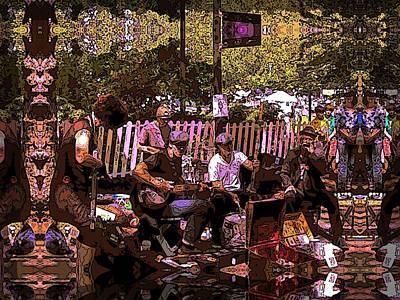 Memorial Day Digital Art - Folklife Buskers by Tim Allen