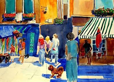 Follow The Crowd Art Print by Joe Hedgpeth