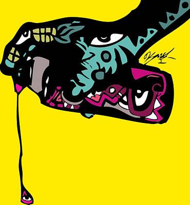 Popartist Digital Art - Follow The Drip Full Color by Kamoni Khem