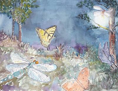 Follow The Firefly Art Print by Dorothy Herron