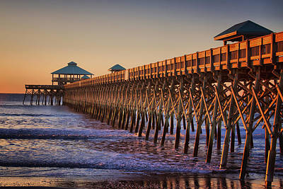 Folly Beach Pier Art Print