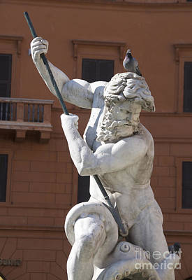 Goddess Mythology Photograph - Fontana Del Nettuno. Neptune Fountain. Piazza Navona. Rome by Bernard Jaubert
