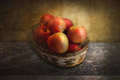 Food - Apples - Apples In A Basket  Art Print