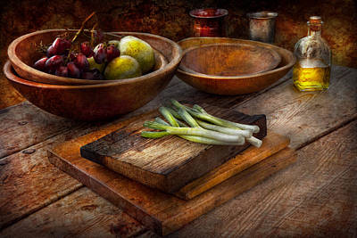 Salad Oil Photograph - Food - Vegetable - Garden Variety by Mike Savad