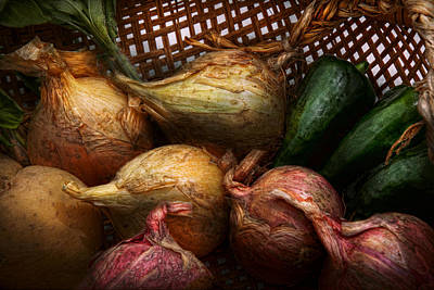Chef Photograph - Food - Vegetables - Onions And Peppers by Mike Savad