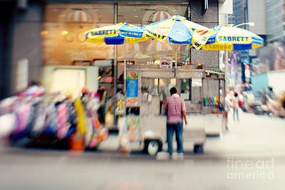 Hot Dogs Photograph - Food Vendor In New York City by Kim Fearheiley