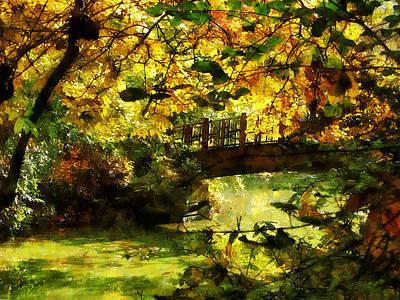 Foot Bridge Art Print by Susan Savad