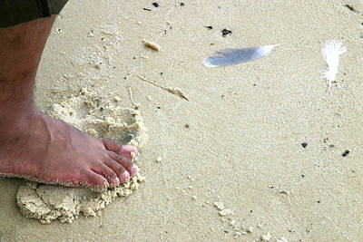 Photograph - Foot  On  Beach -  Image  2 by William Meemken