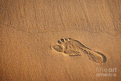 Foot Print Print by Carlos Caetano