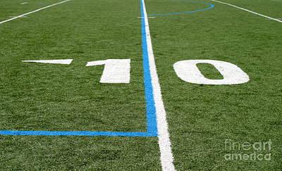 Print featuring the photograph Football Field Ten by Henrik Lehnerer