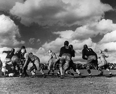 Football Game Art Print by George Marks