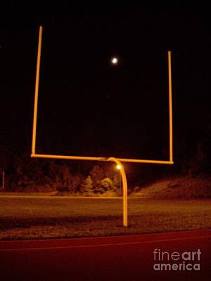 Photograph - Football Moon Field Goal by David Karasow