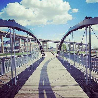 Angle Photograph - #footbridge #canal #harbor #downtown by Jenna Luehrsen