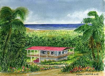 Puerto Rico Painting - Foothills Of El Yunque Puerto Rico by Frank Hunter