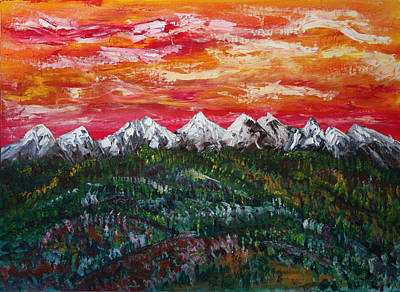 Painting - Foothills To Banff by James Bryron Love