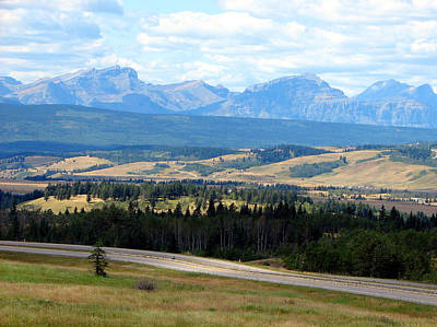 Foothills West Of Calgary Art Print