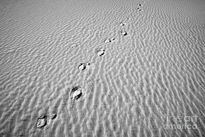 Photograph - Footprint At White Sand by Olivier Steiner