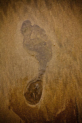 Footprint In The Sand Art Print by Anthony Doudt
