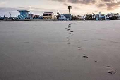 Up201209 Photograph - Footprints 26th Street Hermosa by Josh Whalen