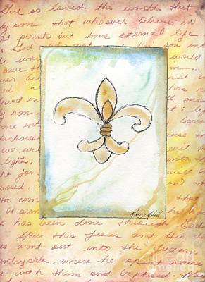 Faith Hope And Love Mixed Media - For God So Loved The World by Michele Hollister - for Nancy Asbell