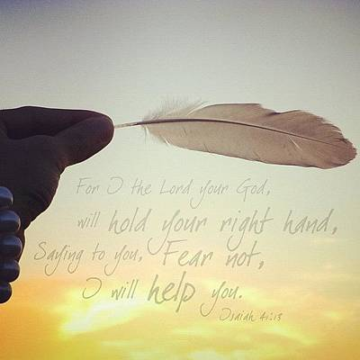 Inspirational Photograph - for I The Lord Your God, Will Hold by Traci Beeson